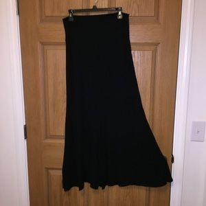 Athleta black maxi skirt